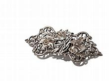 Art Nouveau Belt Buckle with flower tendril, around 1900