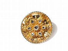 Golden Brooch / Pendant with Rose Cut Diamonds, c. 1970