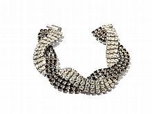 Bracelet of Black and White Rhinestones, 1950s
