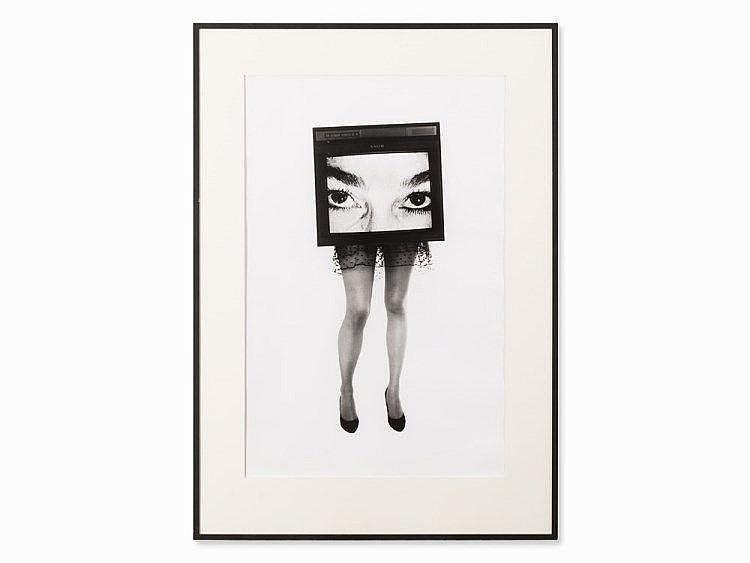Lynn Hershman Leeson, TV Legs #1, Gelatin Silver Print, 1987
