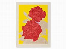 Gary Hume, Two Roses, Woodcut in Colors, 2009