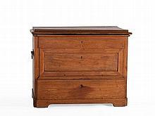 Biedermeier oak chest with drawers, around 1850