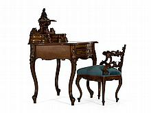 Bureau with Armchair, Louis-Philippe, France, around 1850/60