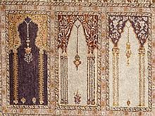 Saf multi-niche prayer rug from Turkey, 160.000 knots/m2, 1960