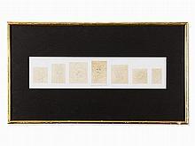 Victor Vasarely (1906-1997), Fille Fleur Frise, Pencil, 1948
