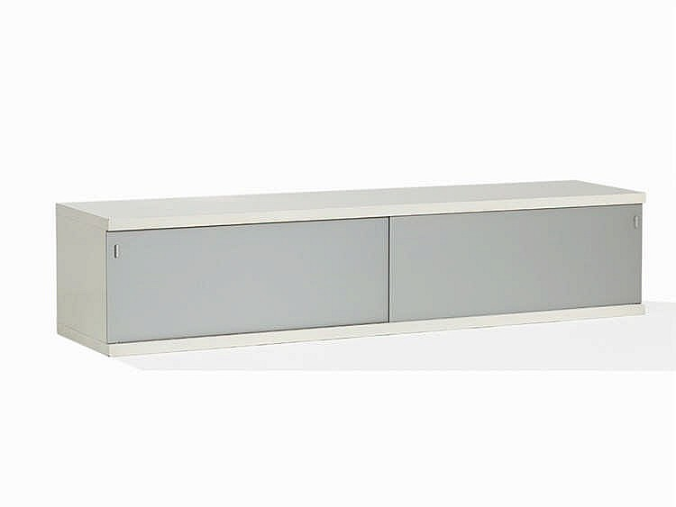 Horst Brüning, A Suspended Sideboard in White, Behr AG, 1967