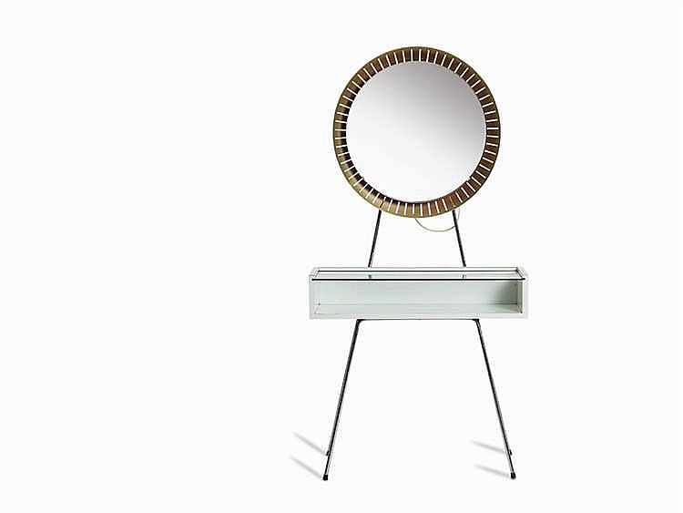 Dressing Table with Illuminated Mirror, Italy, 1970/80s