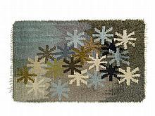 Hand-made Rya Rug with Starry Sky, 1950s/60s