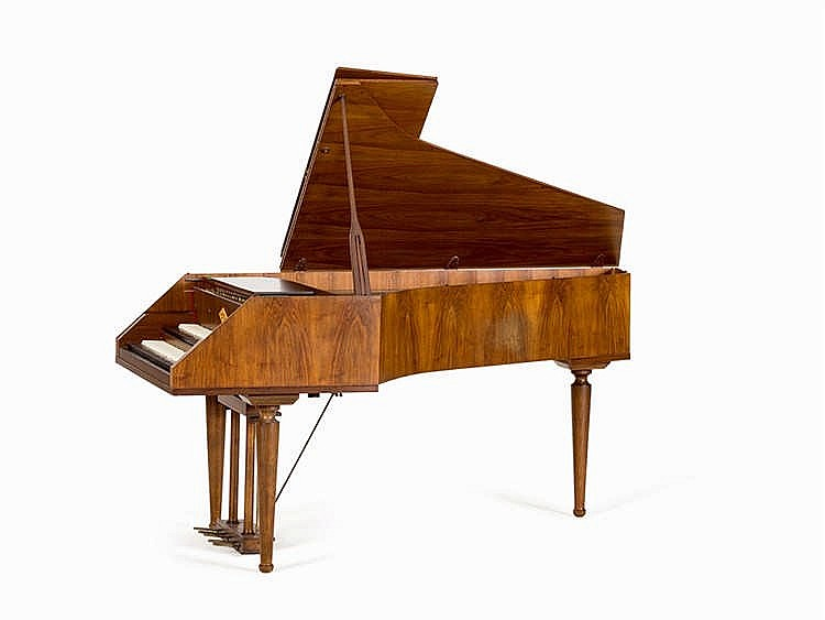 William de Blaise, harpsichord, walnut, London, 1975