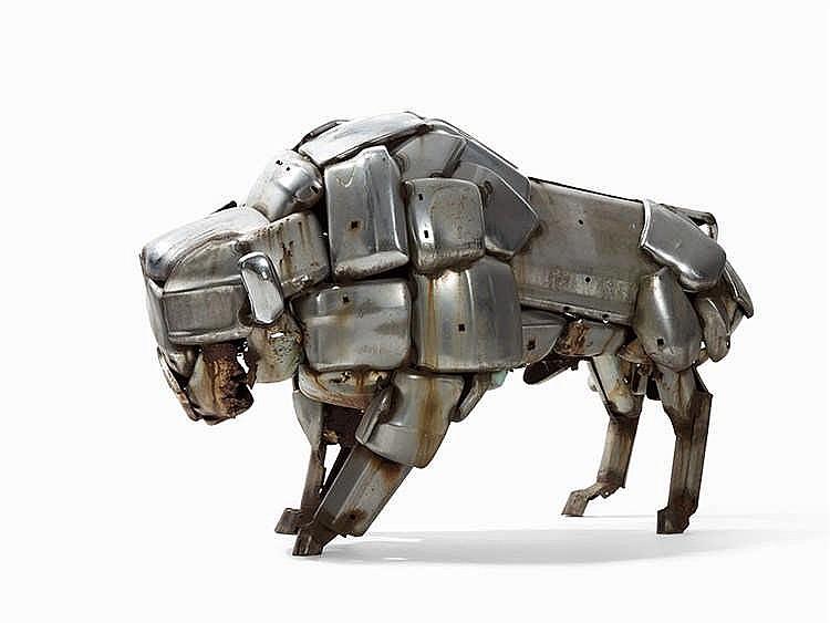 John Kearney, Bison Bull, Steel Sculpture, 1977