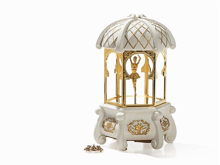After Carl Igor Fabergé, Music Box 'Musikpavillon', Late 20th C