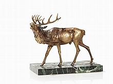 Belling Stag, Yellow Cast, pres. Austria, 2nd Half 20th C.