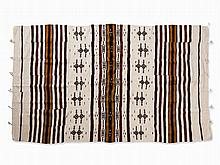 Kelim with Stripes and Geometric Pattern, Mali, c. 1960