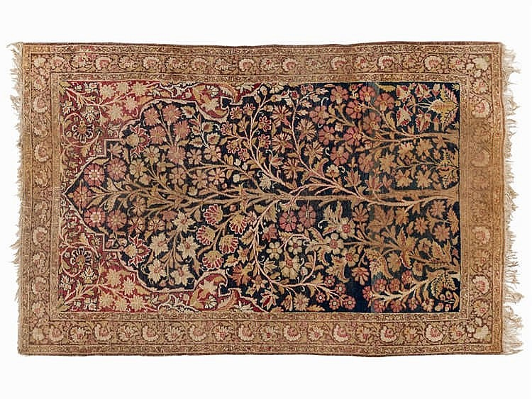 Kirman with Tree of Life Motif, Persia, mid-20th C.