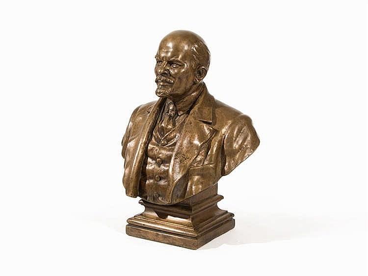 Lenin Bust, Bronze, Romania, mid-20th Century