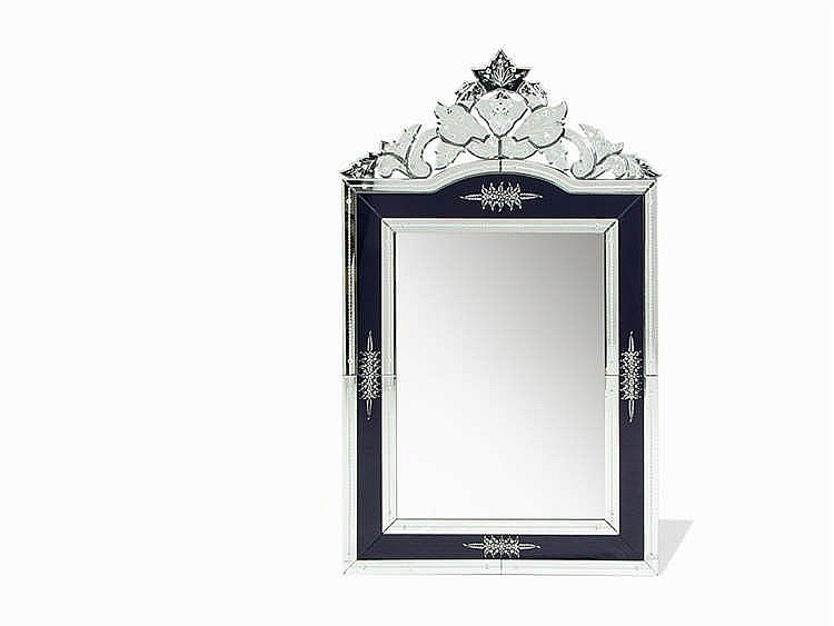 An Impressive Hollywood Regency Style Mirror, Italy, 1990