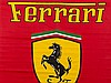 Large Banner Flag with 3 Ferrari Logos, Italy, ca. 1990
