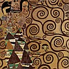 After Gustav Klimt, Tapestry, The Expectation, late 20th C.