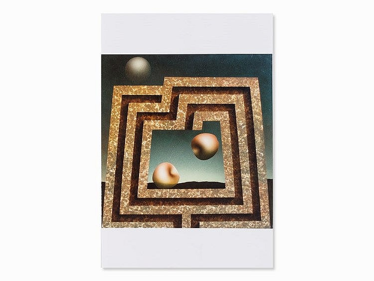 Vanni Viviani (1937-2002), Incontro Nel Labirinto, Acrylic, 1979