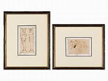 Palma il Giovane (c.1548-1628) Attr., Pair of Studies, c. 1600