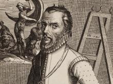 Simon Frisius, Painter Michael Coxcie, Engraving, c 1610