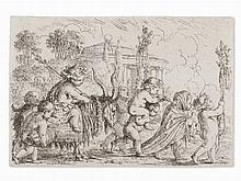 Jonas Umbach, The Triumph of Bacchus , Etching, c. 1660