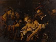 Pietro della Vecchia, Christ And The Adultress, Oil, 17th C.