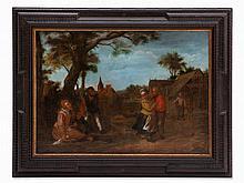 Matthias Scheits (1625-1700), Der Zudringliche, Oil, 1695