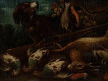 Hunt still-live, Oil painting, Holland, around 1700