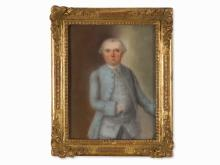 A Rococo Portrait of a Man, Pastel, Pres. 2nd Half of 18th C.