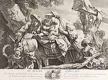 After Jean-Baptiste Greuze, Le Ménage Ambulant, Print, 18th C.