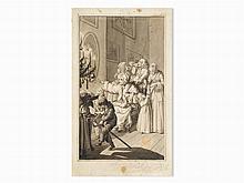Johann David Schubert, Der Weihnachtsabend, Pen and Ink, 1792