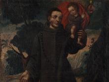 "Oil painting ""Saint John of God"", Spain, 18th / 19th C"