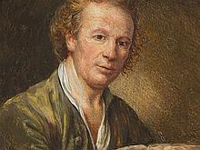 Miniature Portrait of a Man, France, c. 1800.Marked Greuze