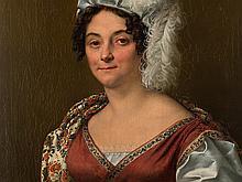 Isidore Péan Du Pavillon, Portrait of a Lady, Oil, 1818