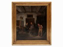 Burchard Giesewell, Genre Scene with Interior, c. 1820