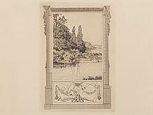 Max Klinger, Narcissus and Echo II, Etching/Aquatint, 1879