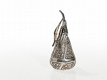 Silver Pear Shaped Pomander, Ottoman Empire, 19th Century