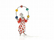 Tiffany Circus Figure 'Juggling Clown', Sterling Silver, 1990s