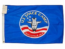 US Space Camp Flag from the STS-27 Space Mission, 1988