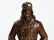 C. Brehmer, Small Bronze 'Charles Lindbergh', around 1930