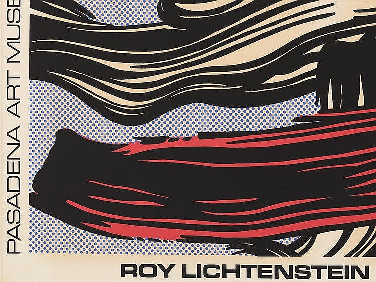 Roy lichtenstein exhibition poster pasadena art museum 196 for Poster roy lichtenstein