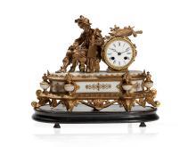 Figural Mantel Clock 'Nobleman', France, around 1880