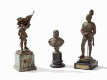 A Collection of 3 Military Bronzes, Germany, 19th/20th C