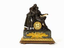 Large Figural Mantel Clock with Lovers, C.Hémon,Paris, c 1815