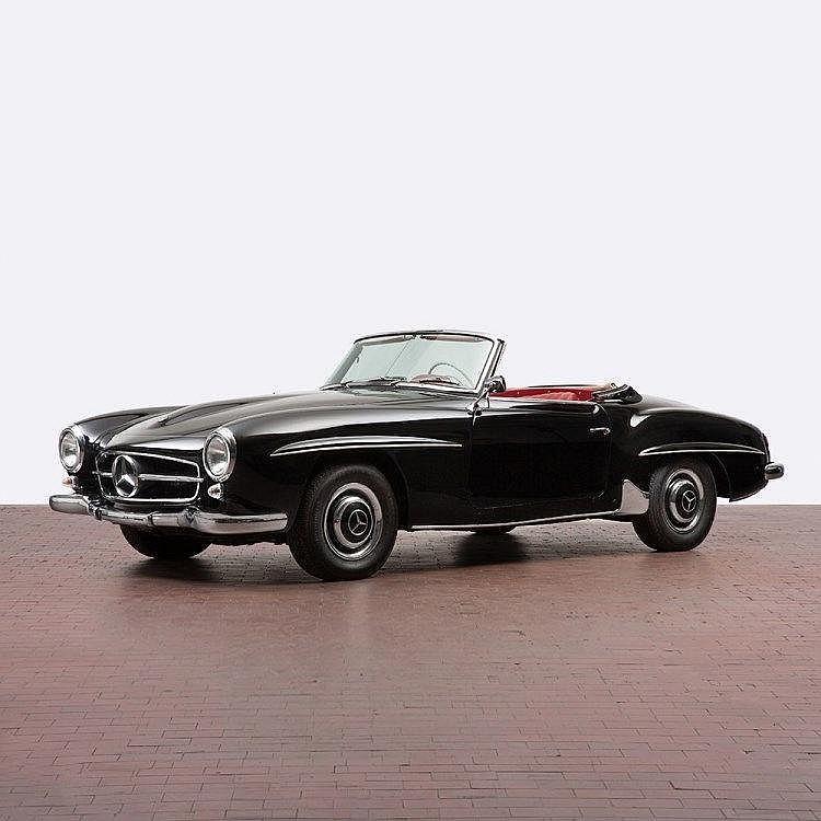 Mercedes benz 190 sl convertible with hardtop model 1959 for Mercedes benz hardtop convertible