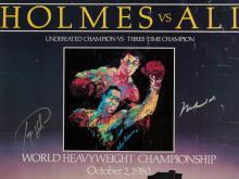 Muhammad Ali vs. Larry Holmes, Signed Poster, 1980