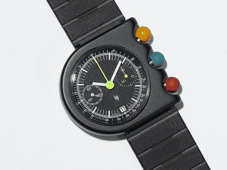 LIP Mach 2000 chronograph wristwatch by Roger Tallon, 1974