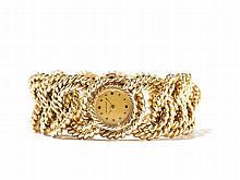Verdura, Gold Rope-Link Bracelet Watch, USA, c. 1960