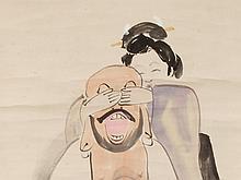 KOBAYASHI Kiyochika, Hand-Painted Ukiyo-e, 20th C.